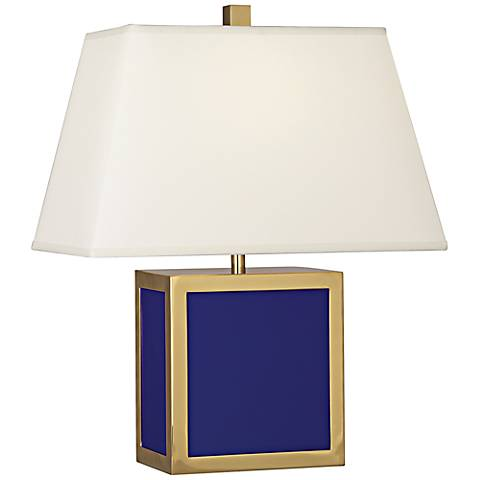 "Jonathan 19 1/2"" high Adler Barcelona Royal Blue Accent Lamp"