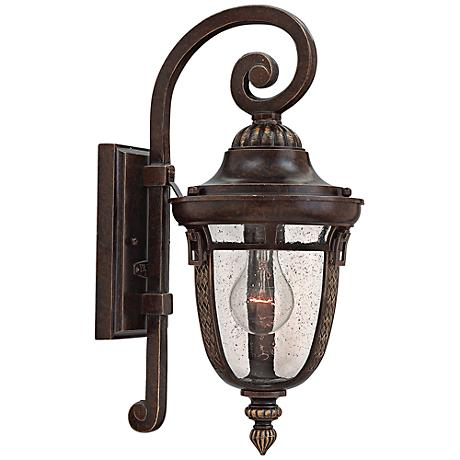hinkley key west 7 wide regency bronze outdoor wall light
