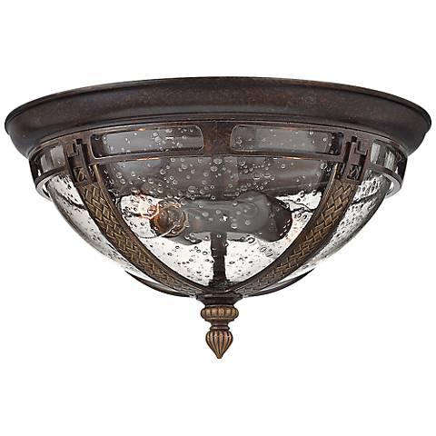 """Hinkley Key West 15"""" Wide Regency Bronze Ceiling Light"""