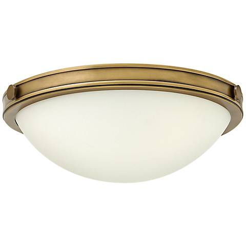 "Hinkley Foyer Maxwell 13 3/4""W Heritage Brass Ceiling Light"
