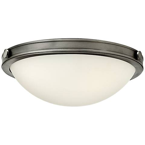 "Hinkley Foyer Maxwell 13 3/4""W Antique Nickel Ceiling Light"