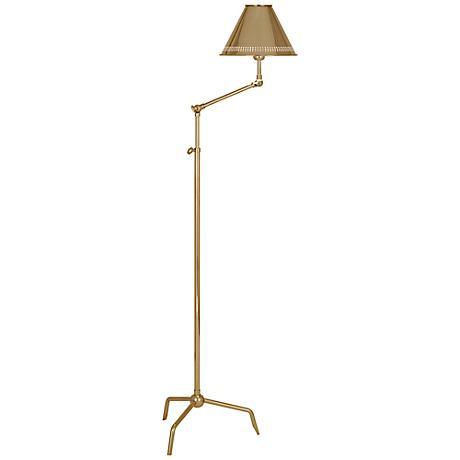 Jonathan Adler St. Germain Polished Brass Floor Lamp