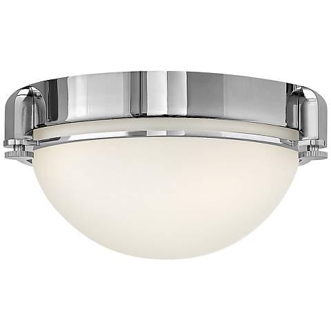"""Hinkley Foyer Logan 12 1/2"""" Wide Chrome Ceiling Light"""