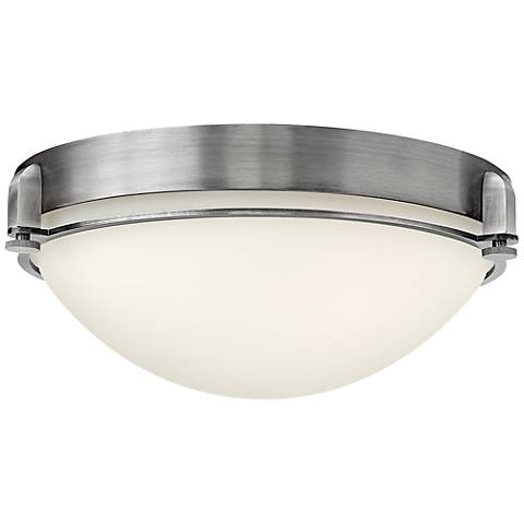 "Hinkley Foyer Logan 16 1/2""W Antique Nickel Ceiling Light"