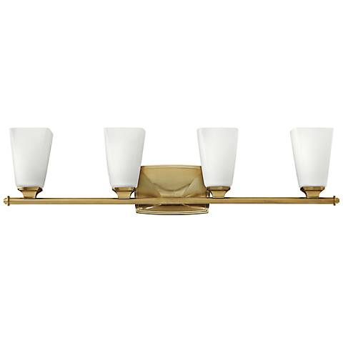 "Hinkley Darby 32"" Wide Brushed Caramel 4-Light Bath Light"