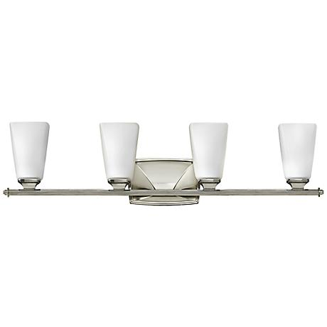 "Hinkley Darby 32"" Wide Polished Nickel Bath Light"