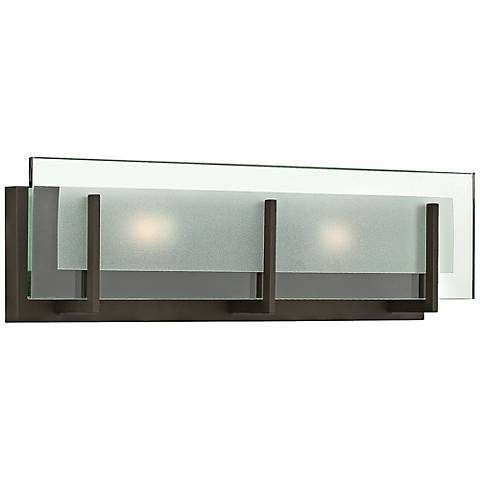"Hinkley Latitude 18"" Wide Oil-Rubbed Bronze Bath Light"