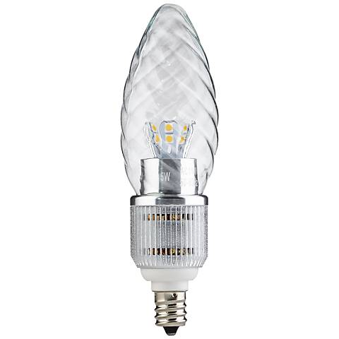 Candle Base Clear Twist 5 Watt LED Dimmable Light Bulb