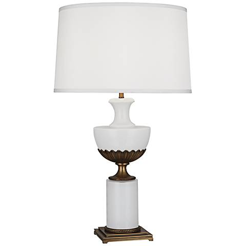 Robert Abbey Ludwell White Glass Urn Table Lamp