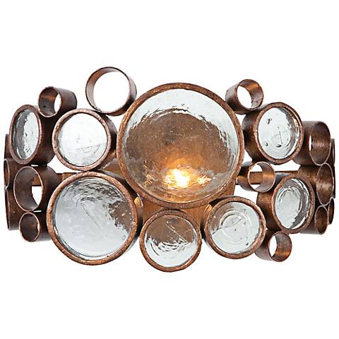 """Varaluz Fascination 7"""" High Hammered Ore Wall Sconce"""