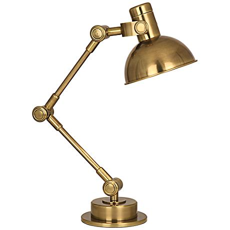 Robert Abbey Scout Antique Brass Desk Lamp