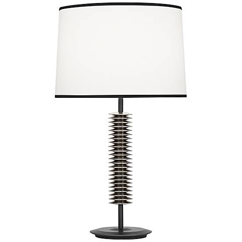 Robert Abbey Plato Bronze and Silver Table Lamp