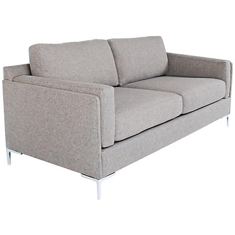 Bennet Charcoal Fabric Upholstered Sofa