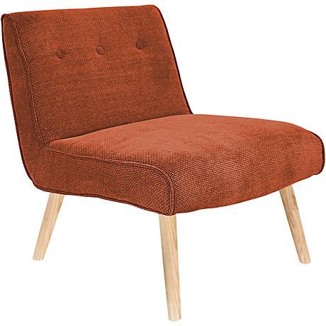 Vintage Neo Burnt Orange Upholstered Accent Chair