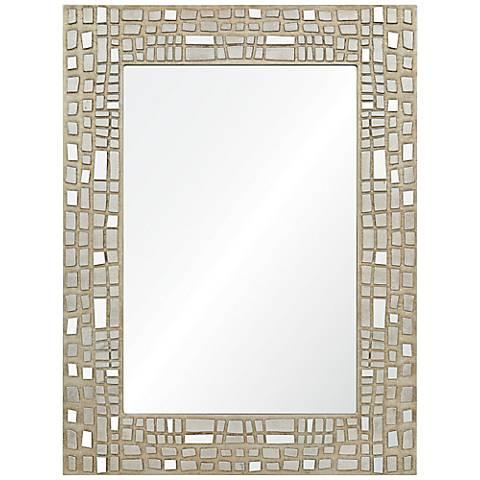 "Duchamp Mosaic Style 30"" x 40"" Rectangle Wall Mirror"
