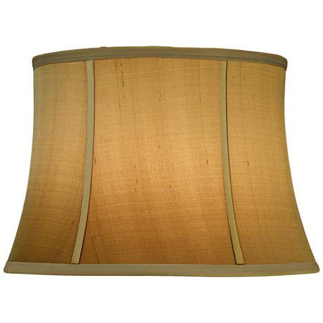 Stiffel Tan Silk Shantung Bell Lamp Shade 13x16x11 (Spider)