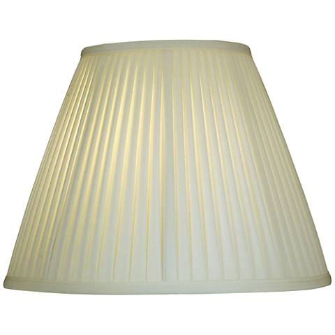 Stiffel Ivory Shadow Side Pleat Empire Shade 8x16x12 (Spider)