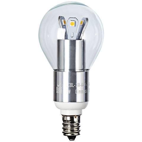 25W Equivalent Clear 3W LED Candelabra Base Fan Bulb