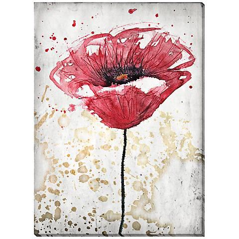 "Botanical Splash I 24"" High Canvas Wall Art"