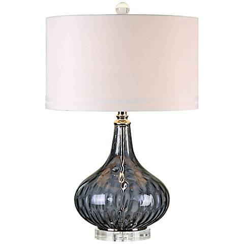 Uttermost Sutera Blackcurrant Water Glass Table Lamp
