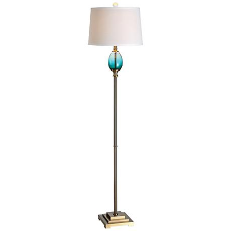 Uttermost Cavaillon Brushed Brass Metal Floor Lamp
