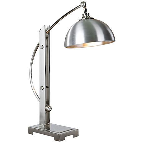 Uttermost Malcolm Brushed Nickel Metal Desk Lamp