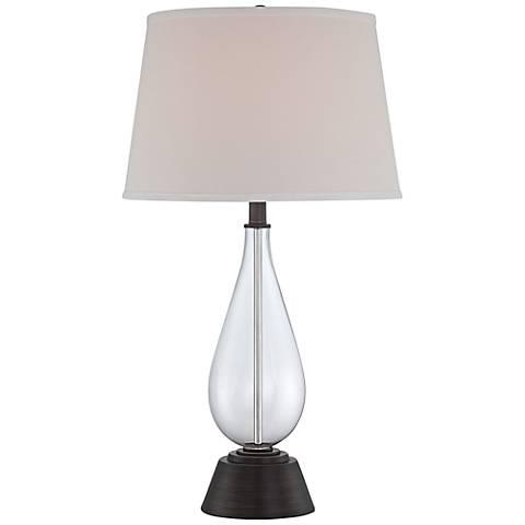 Lite Source Pello Clear Glass Teardrop Table Lamp