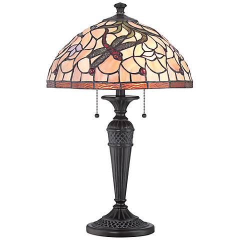 Lite Source Breanna Dark Bronze Tiffany Style Table Lamp