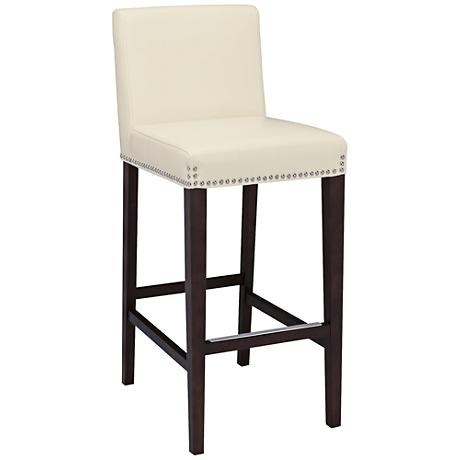 Brooke 25 1 2 Quot Ivory Bonded Leather Counter Stool 7w909