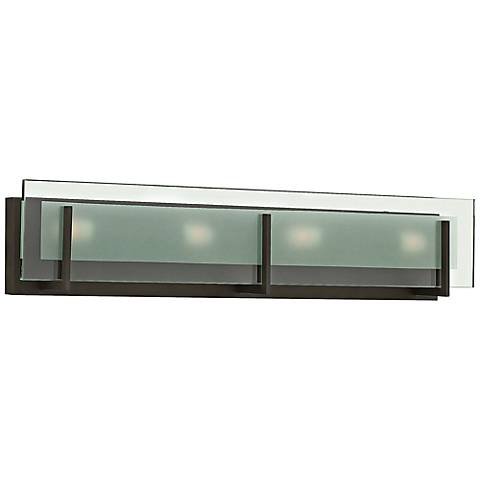 "Hinkley Latitude 26"" Wide Oil-Rubbed Bronze Bath Light"