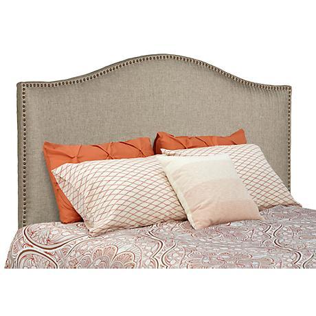 Meryl Heirloom Gray Upholstered Queen Headboard