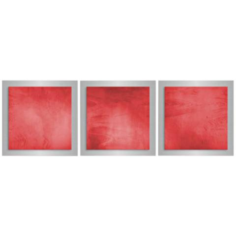Metal Wall Art Lamps Plus : Red Essence 3-Piece 12