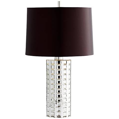 Capella Nickel Glass Table Lamp