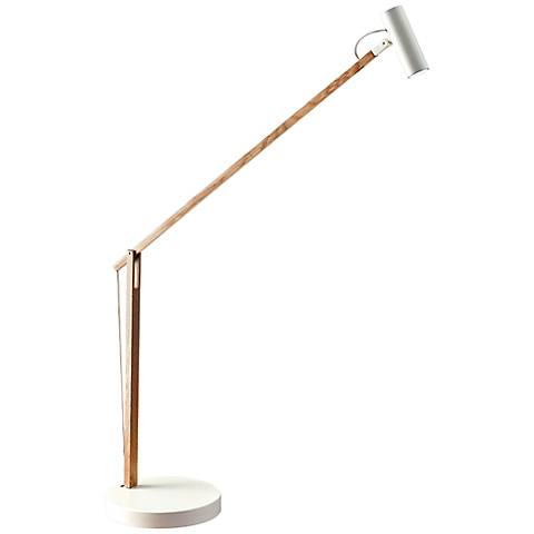 ADS360 Collection Crane Natural Wood and White LED Desk Lamp