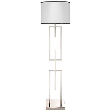Jamie Young Arma Nickel Metal Floor Lamp