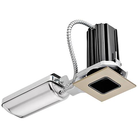 "2"" Juno SQ Black-Nickel Square 10W LED Complete Recessed Kit"