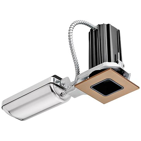 "2"" Juno 2SQALED 10W LED Square Bronze Complete Recessed Kit"