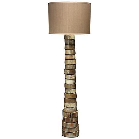 Jamie Young Elephant Hemp Stacked Animal Horn Floor Lamp