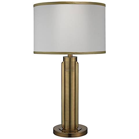 Jamie Young Belvedere Antique Brass Metal Table Lamp