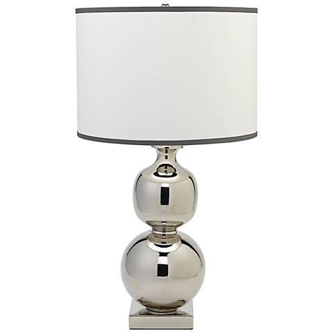 Jamie Young Double Ball Nickel Metal Table Lamp