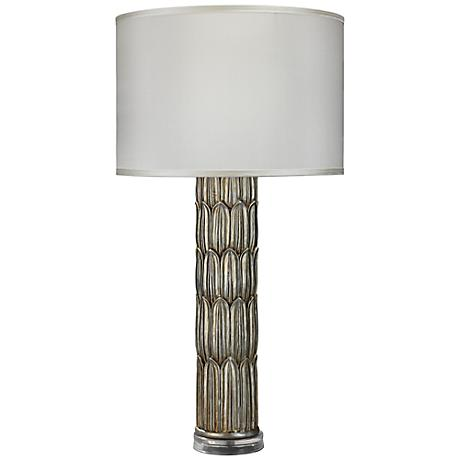 jamie young silver carved column table lamp 7x435. Black Bedroom Furniture Sets. Home Design Ideas