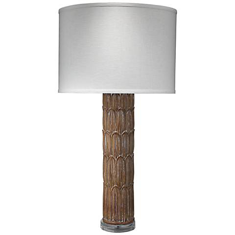 Jamie Young Natural Carved Column Table Lamp