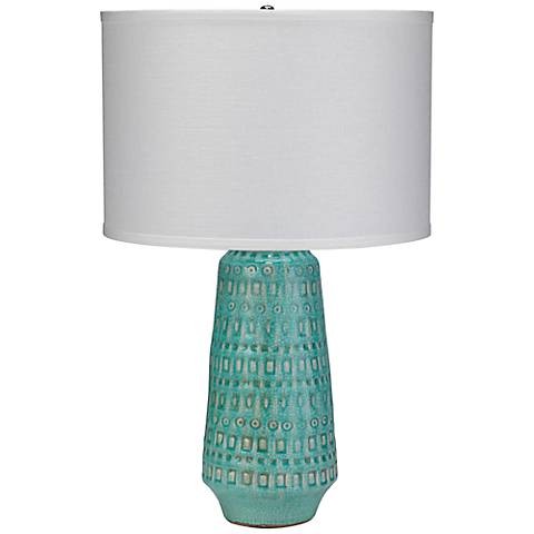 Jamie Young Large Coco Ocean Blue Ceramic Table Lamp