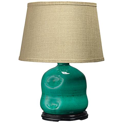 Jamie Young Dimple Turquoise Blue Jug Table Lamp