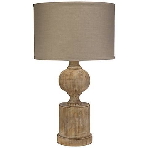 Jamie Young Windward Natural Wood Table Lamp