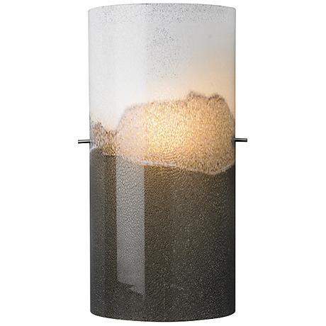 "LBL Dahling 15"" High LED Gray 2-Tone Glass Wall Sconce"