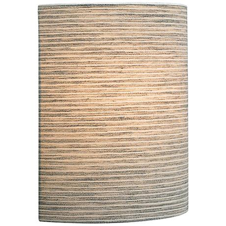 """LBL Fiona LED 11"""" High Pewter Fabric Wall Sconce"""