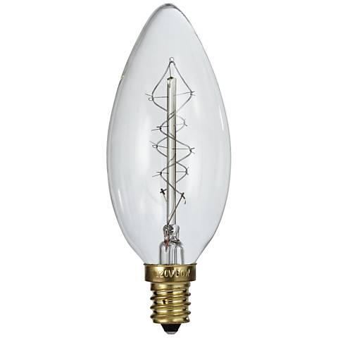 Tesler Clear 60 Watt Edison Style E12 Candelabra Light Bulb