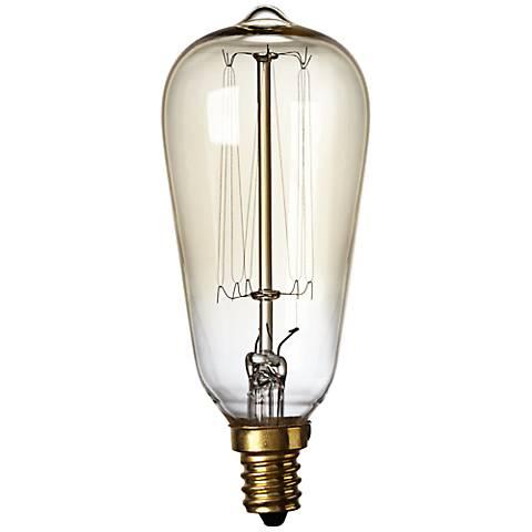 Nostalgic 60 Watt Candelabra Base Edison Style Light Bulb