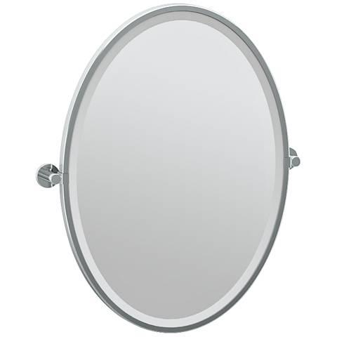 "Gatco Channel Chrome 23 3/4"" x 27 1/2"" Wall Mirror"